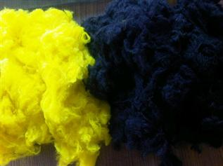 Dyed, 3.3d, for making yarn