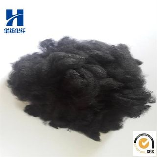 Black Color Recycled Solid Polyester Staple Fiber