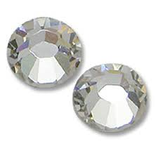 For Garment, 4mm size with rivoly with 12, 14 and 18 - (clear) , Crystal