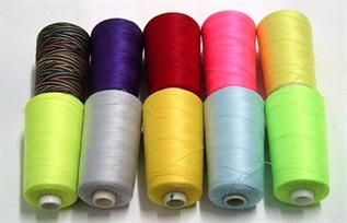 For garment industry, 50/2, 40/2, 20/2, 100% Polyester