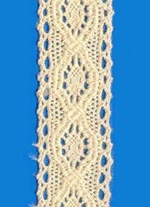 Beads cotton lace trim, 2 cm, 100% Cotton