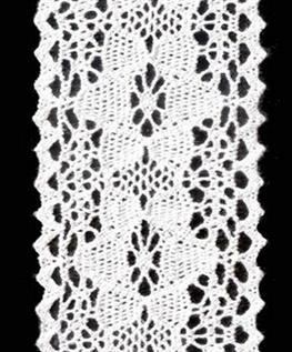Cotton lace trim, 5 cm, 100% Cotton