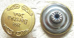 For Garments, 20mm, Brass