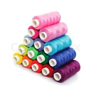 For garment industry,  12-80 Double, 100% Polyester Spun