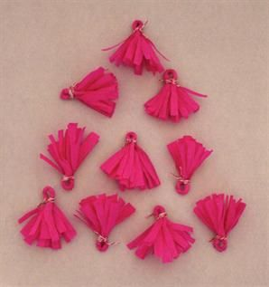 for hanging decoration or jewelry, 2 or max. 2.5 cm, Silk, Polyester