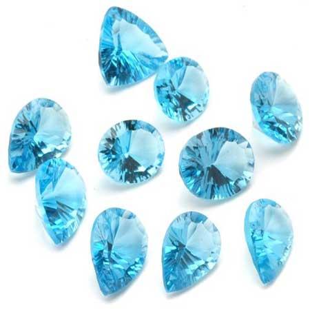 blue topaz transparent gemstone