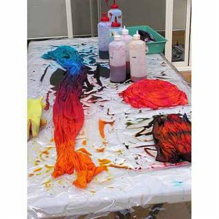 For Textile Priting, Black, Red, Pink, Blue and other colours