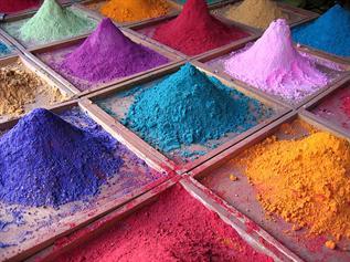 For silk & woolen dyeing, Red, Black, Blue, Orange, Maroon, Violet, Form : Powder