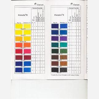 For textile pigment printing, Liquid past form