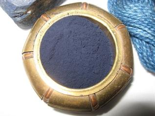 Textile, etc., Blue Powder