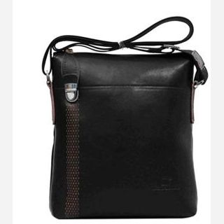 For Men's, Material : Genuine leather + PU, Color : Brown, Size : 22*25*7cm