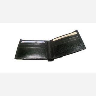 Male, Black  Crocdile Print Leather