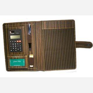 Unisex, Brown Leather Conference Folder