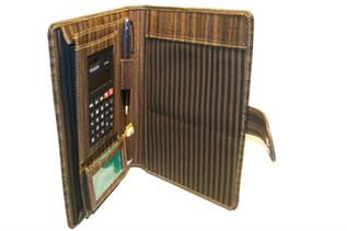 Unisex, Brown Leather Conference Folder