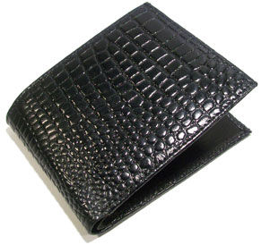 For Mens, Material : Cobra Leather, Color : Black