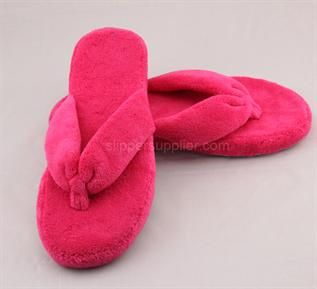 ladies microtowelling toe thong slipper