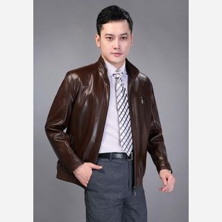 mens sheep leather casual jackets