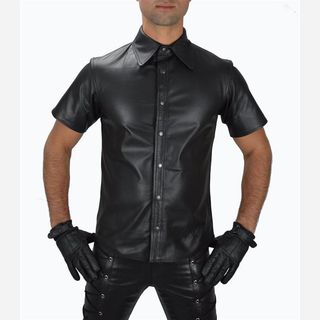 mens pure leather shirt