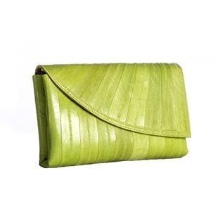 For Ladies , Material: 100% Eel Skin Natural Original Leather - Abrasion Resistant  Color: Green, Red, Black etc.