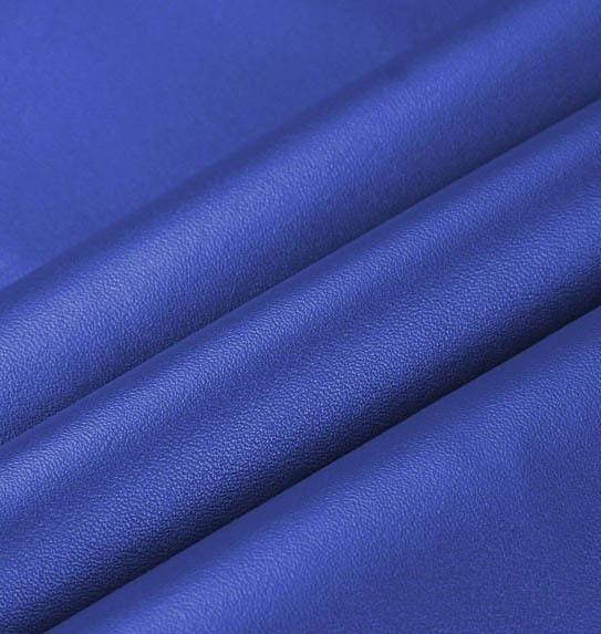 PU blue synthetic leather
