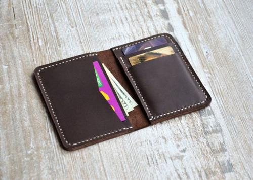 Leather Black Coloured Passport Holder