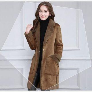 Women Brown Suede Coat