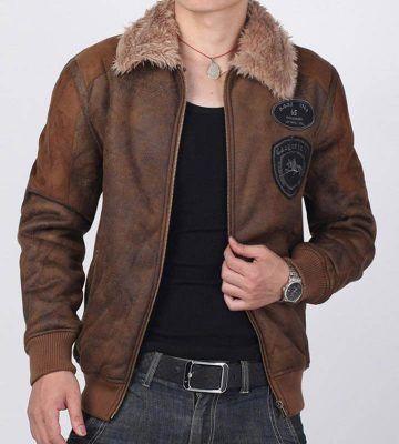 Men's Leather Suede Jacket