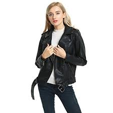 Women's Synthetic Leather Jacket