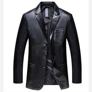 Men's Leather Blazer