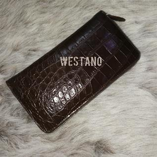 Genuine Crocodile Leather Zip Wallet