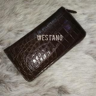 Genuine Crocodile Leather Zip Wallet