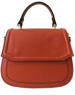 Dollaro Embossed Calf Leather Shoulder Bag