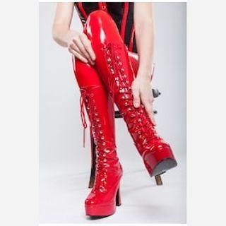 Knee Hi Corset Boot