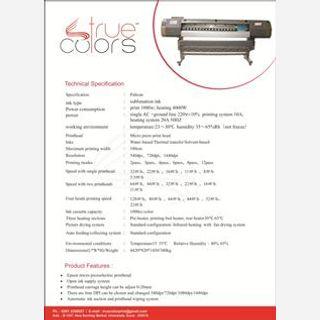 4442*820*1450mm, Fabric Printing , AC 220V, 50Hz, 10A, 60 Square Meter/hour