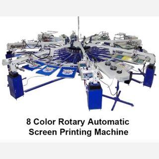 T-shirt Auto Rotary Screen Printing Machine