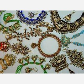 Kundan, Beads, Silver, Multi