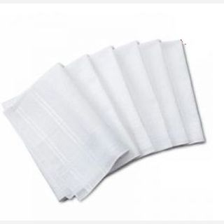 100% Cotton, White and other light colors