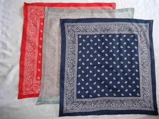 100% Cotton, Blue, Red, Grey