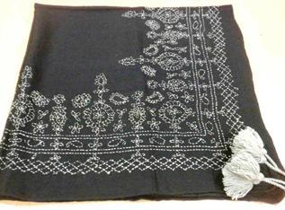 100% Wool + Acrylic EMB, Deep Silver