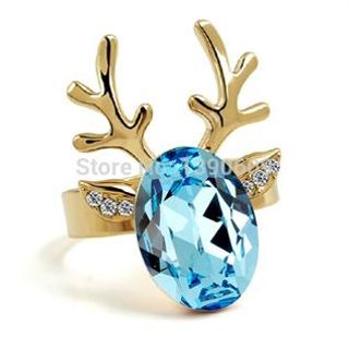 Semi-precious stone, Silver plated, Geometric shape, Red, Blue, Green