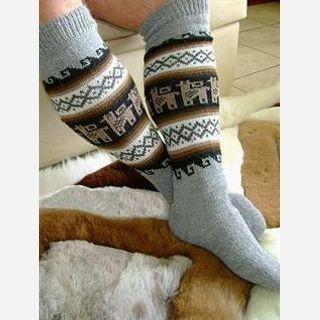 Alpaca wool socks Natural and dyed