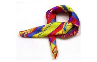 Silk, Chiffon, Polyester, Blue, Black, Pink, Orange, Red, White