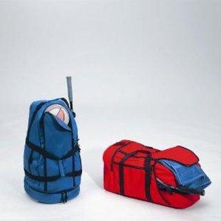 Nylon/PVC, Blue, Red
