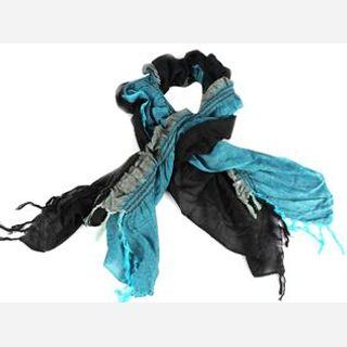 Rayon Lycra, Blue and Black