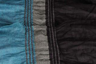 Rayon Lycra, Blue and Black