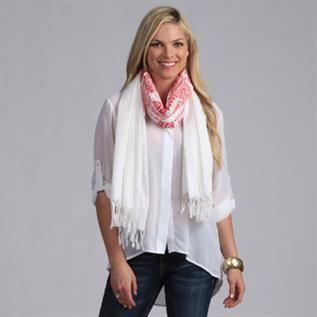 100% Silk, 100% Cotton Crush, White