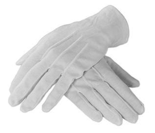 100% Cotton, White