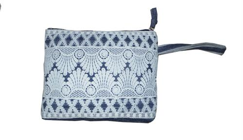 womens blue pouch