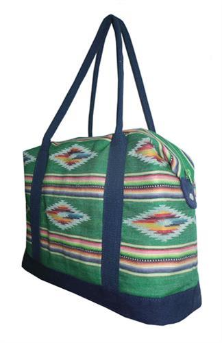 womens overnighter bag with webbing handle