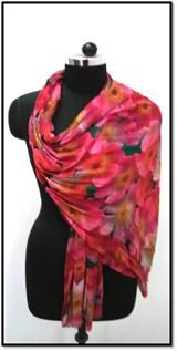 Viscose, Silk, Polyester, Cotton, Multiple colours